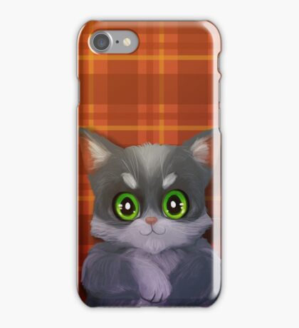 Tartan Cat iPhone Case/Skin