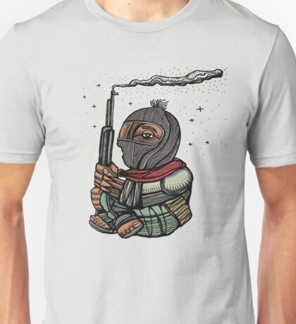 Zapatist rebel mexican soldier illustration Unisex T-Shirt