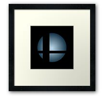 Smash Logo - Blue Steel Framed Print