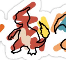 Charmander Evoloution Sticker