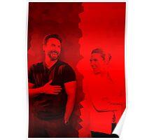 Chris Evans and Scarlett Johansson - Celebrity Poster