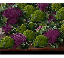 BEAUTIFUL PURPLE & GREEN CAULIFLOWER-PICTURE,TOTE BAG,TRAVEL MUGS,PILLOWS..ECT.. Photographic Print