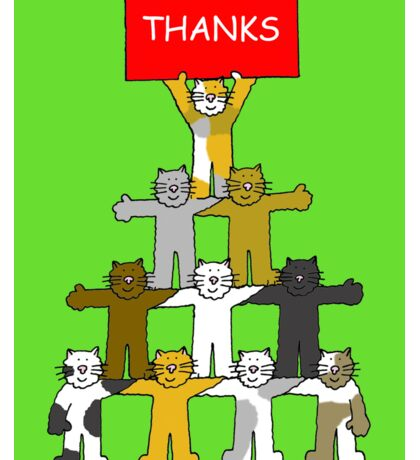 Thank you Cats Sticker
