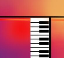 Piano Abstract Sticker