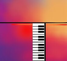 Piano Abstract by BoghratRedBubbl