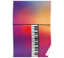 Piano Abstract Poster