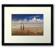 Posts On The Shore Framed Print