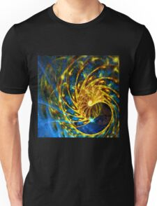 Abstract Geometric Life Blue Gold Unisex T-Shirt