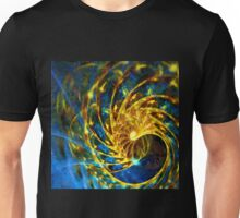Abstract Geometric Life Blue Gold Unisex T-Shirt