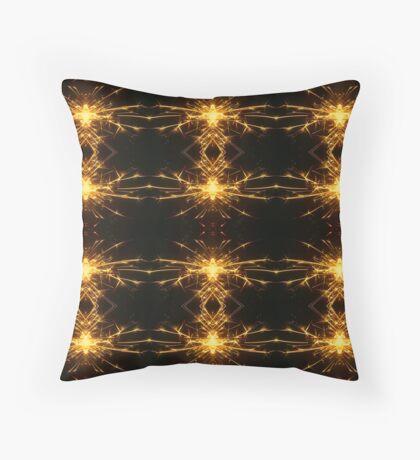 Golden Sparklers Throw Pillow