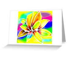 Caribbean Colorful Flowers Roses in Bright Vibrant Colors Greeting Card