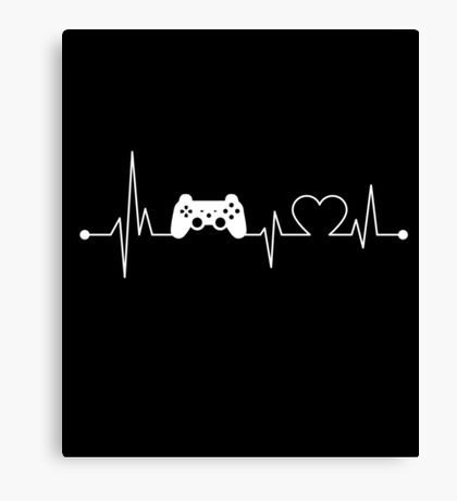 Heartbeat Hobby Video game Canvas Print
