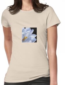 Moon Flower Womens Fitted T-Shirt