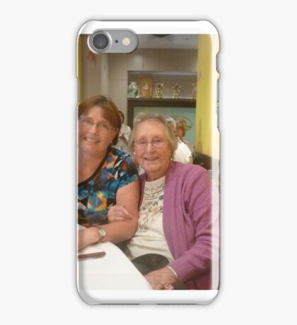 *The two of us, once a year.* iPhone Case/Skin