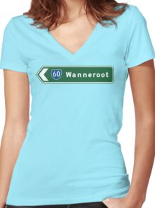 This Way To Wanneroot Women's Fitted V-Neck T-Shirt