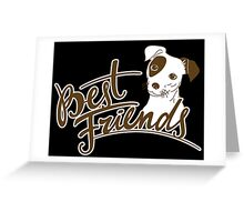 Dog Best Friends Greeting Card