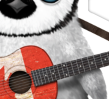 Baby Penguin Playing Canadian Flag Guitar Sticker