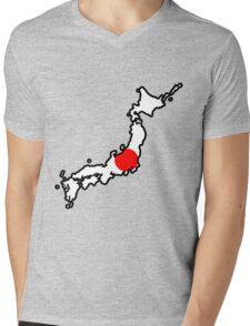 Japan Mens V-Neck T-Shirt