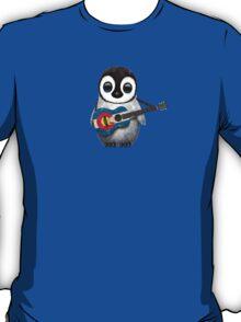 Baby Penguin Playing Colorado Flag Guitar T-Shirt