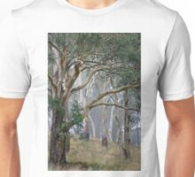 Trees in the mist. Unisex T-Shirt