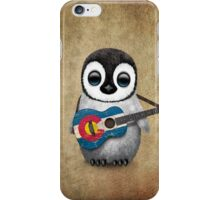 Baby Penguin Playing Colorado Flag Guitar iPhone Case/Skin