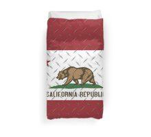 California Republic Diamond Plate Duvet Cover