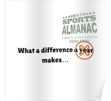 What a difference an almanac makes... Poster