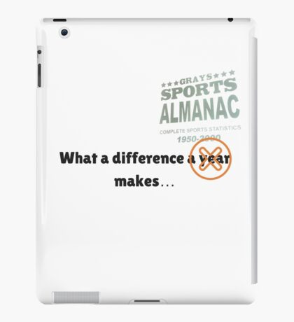 What a difference an almanac makes... iPad Case/Skin
