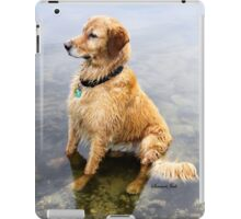 Wet Dog ~ Cooling Off At the Lake iPad Case/Skin