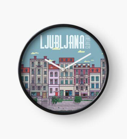 Ljubljana Illustration Clock