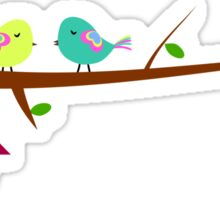 Cute birds in spring Sticker