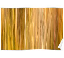 Abstract Cattails Series #5 Poster