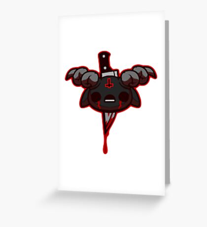 Demonic Isaac Greeting Card