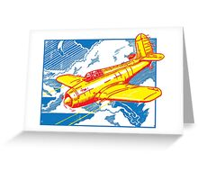 Fighter Plane Greeting Card