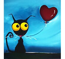 Stressie Cat and her balloon Photographic Print