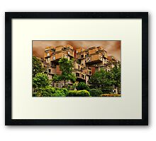 ๑۩۞۩๑HABITAT 67 MONTREAL ,CANADA,ARCHITECTURAL LANDMARK-VERSION TWO ๑۩۞۩๑ PICTURE ,PILLOW,TOTE BAG, Framed Print