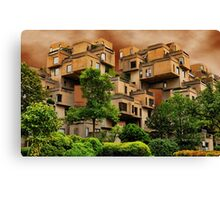 ๑۩۞۩๑HABITAT 67 MONTREAL ,CANADA,ARCHITECTURAL LANDMARK-VERSION TWO ๑۩۞۩๑ PICTURE ,PILLOW,TOTE BAG, Canvas Print