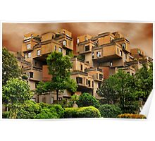 ๑۩۞۩๑HABITAT 67 MONTREAL ,CANADA,ARCHITECTURAL LANDMARK-VERSION TWO ๑۩۞۩๑ PICTURE ,PILLOW,TOTE BAG, Poster