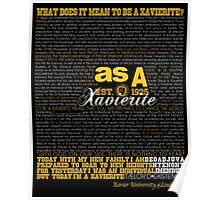 As A Xavierite Print Poster
