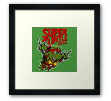 Super Turtle Bros - Raph Framed Print