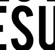 I LOVE JESUS & NAPS Sticker