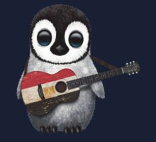Baby Penguin Playing Egyptian Flag Guitar Kids Clothes