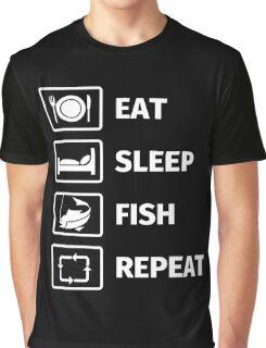 Eat, Sleep, Fish, Repeat Graphic T-Shirt