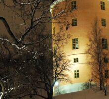 Uppsala Castle, winter wonderland Sticker