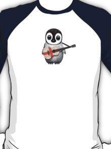 Baby Penguin Playing English Flag Guitar T-Shirt