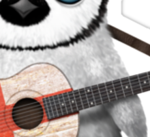 Baby Penguin Playing English Flag Guitar Sticker