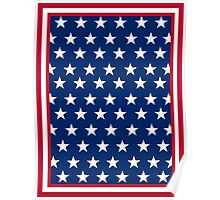 American Flag Inspired Stars and Stripes Poster