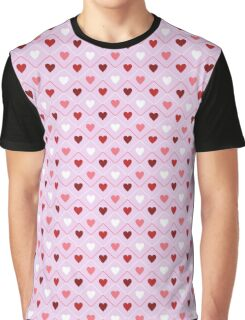 Heart Pattern Graphic T-Shirt