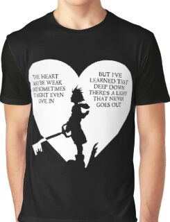 Kingdom hearts sora quote Graphic T-Shirt