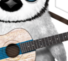 Baby Penguin Playing Finnish Flag Guitar Sticker